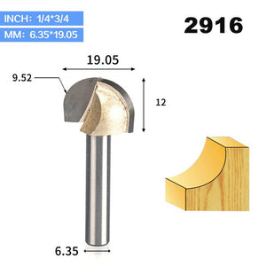 1pcs 1/2 1/4 Shank Double Edging Router Bits for wood cove box bit Tungsten Carbide Woodworking endmill miiling cutter
