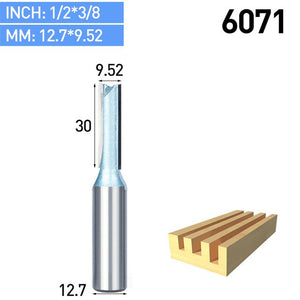 1pc Industrial Grade Woodworking Router Bit Double Edged Endmill Straight Trimmer Bit SharpedTungsten Milling Cutter