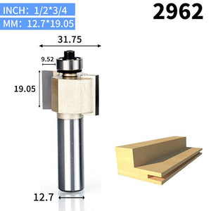 1pcs 1/2 Shank T type bit with bearing woodworking tool router bits for wood Rabbeting Bit endmill milling cutter