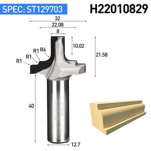 "1pc 1/2"" Shank Diamond CVD Coating Trimming Endmill Woodworking Cutter PCD Slotter Cabinet Door Router Bit"