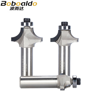 "1pc 1/2"" Shank Diamond Chamfer Round Router Bits Woodworking Cutter Slotter Engraving Machine Tool PCD Router Bit"