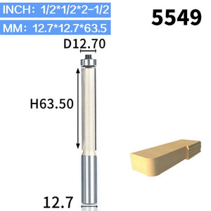 1pcs 1/2 Shk Lengthened Flush Trim Router Bits for wood Trimming Cutters with bearing woodworking tool milling cutter