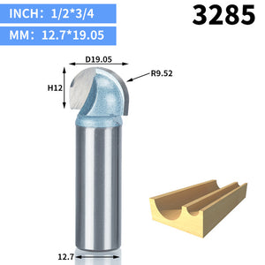 1pcs 1/2 1/4 Shank Double Edging Router Bits for wood Industrial Grade cove box bit Woodworking endmill miiling cutter