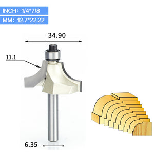1pcs 1/2 1/4 Shank Beading Router Bit Tungsten Carbide Beading Bit Double Edging Router Bits for wood woodworking tools