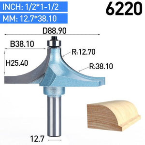 "1pc 1/2"" Shank Router Bits For Wood Tungsten Carbide Cutter Bit Industrial Grade Woodworking Tools CNC Trimming Tool"