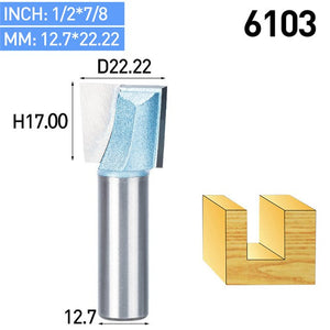 1pc Shank 1/2 1/4 CNC Cleaning Bottom Router Bit Woodworking Tools Bits For Wood Double Flute Carbide Tipped Endmill