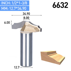 "1pc 1/2"" Shank Trimmer Router Bits For Wood Tungsten Carbide Woodworking Engraving Endmill Tools For Hard Wood MDF"