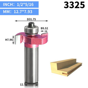 1pcs 1/2 inch Industrial Grade Rabbeting Bit woodworking tool T type bearings wood milling cutter router bits for wood