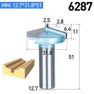1/4 Shank Half Round bit 2 Flute Endmill Router Bits for Wood Without Bearing Woodworking Tool Milling Cutter