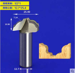 1pcs 1/2 Shank Tungsten Carbide CNC Router Bit Open End Carving Bit 1/2*1 for Wood Cutting tools Tideway 2898