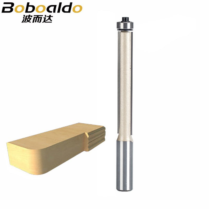 1pcs 1/2*1/2*3 Flush Trim Router Bits for wood Lengthened Trimming Cutters with bearing woodworking tool endmill