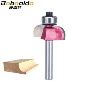 1pc Shank 1/2 Radius Round Grooving Cove Box Bit CNC Round Nose Router Bits For Wood Industrial Grade Woodworking Endmill