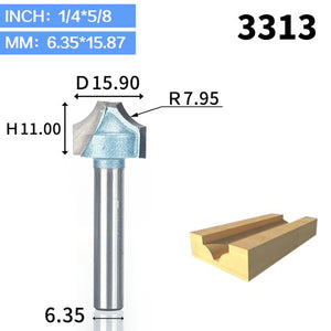 1pcs 1/2 1/4 Shank router bits for wood Industrial Grade woodworking tool engraving bit cutting the wood router tool