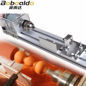 Mini DIY Wood Lathe Machine Polisher Table | polishing Cutting 24V beads machine