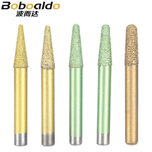 1PC Metallurgical Fused Stone Carving Cutter Tools Embossed Lettering Granite Diamond Engraving Machine Router Bits