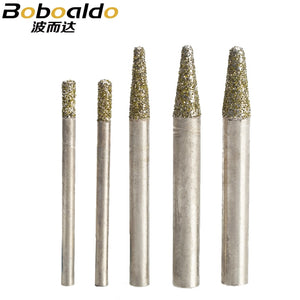 1PC Stone Engraving Machine Cutter Stone Cutting Bits CNC stone carving tool Electroplated diamond Router bit