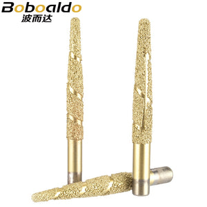 1PC Melt melting CNC Stone Carving Router Bit Stone Carving Tools Deep Relief Lettering Granite Diamond Engraving Tool
