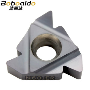 22 ER N 60 Indexable Tungsten Carbide Threading Lathe Inserts for Threaded Lathe Holder,thread turning tool holders