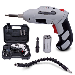 4.8V Multifuctional Electric Screwdriver Parafusadeira A Bateria Chargeable Battery Cordless Drill DIY Power Tools With 45 Bits
