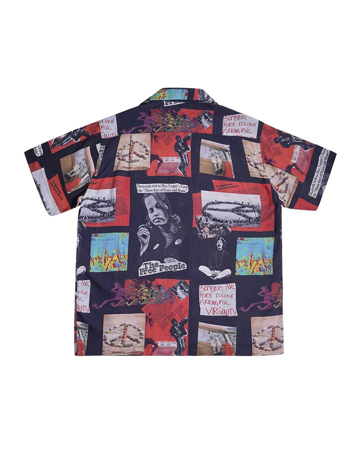 THE FREE PEOPLE ALOHA SHIRT BLACK S/S 19