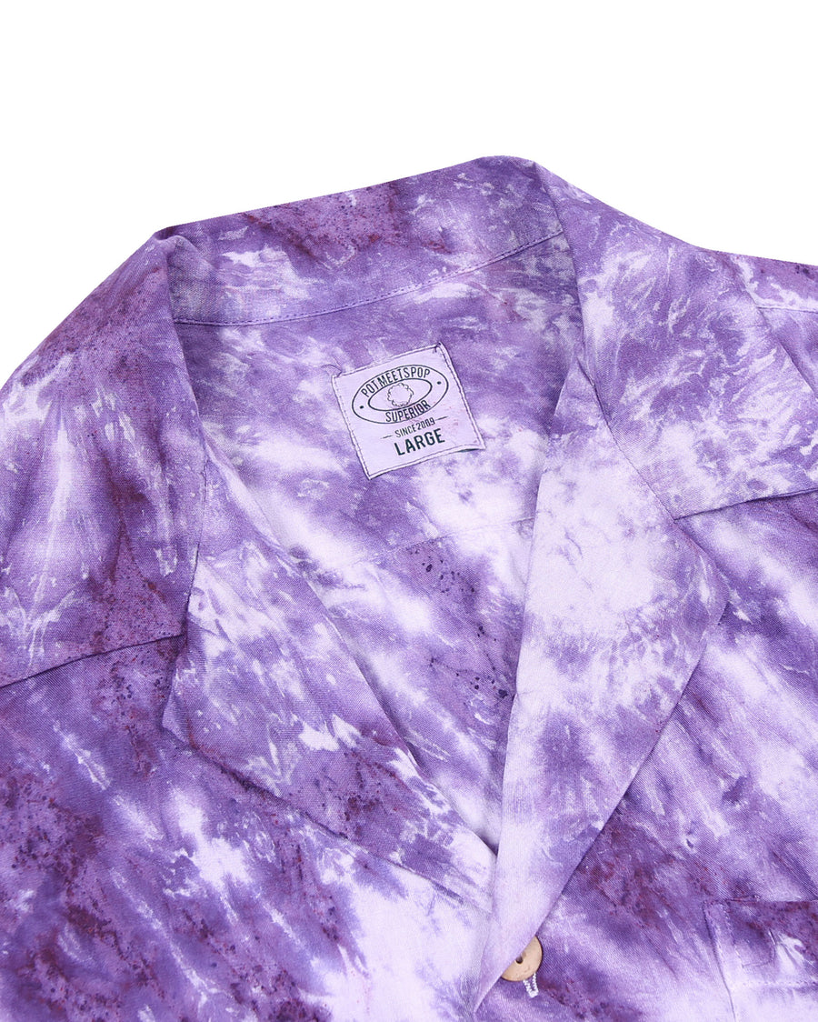 RHYTHM OF THE SUN TIE-DYE SHIRT PURPLE S/S 20