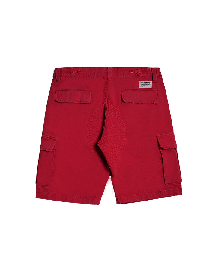 CHRONIC CARGO SHORT RED