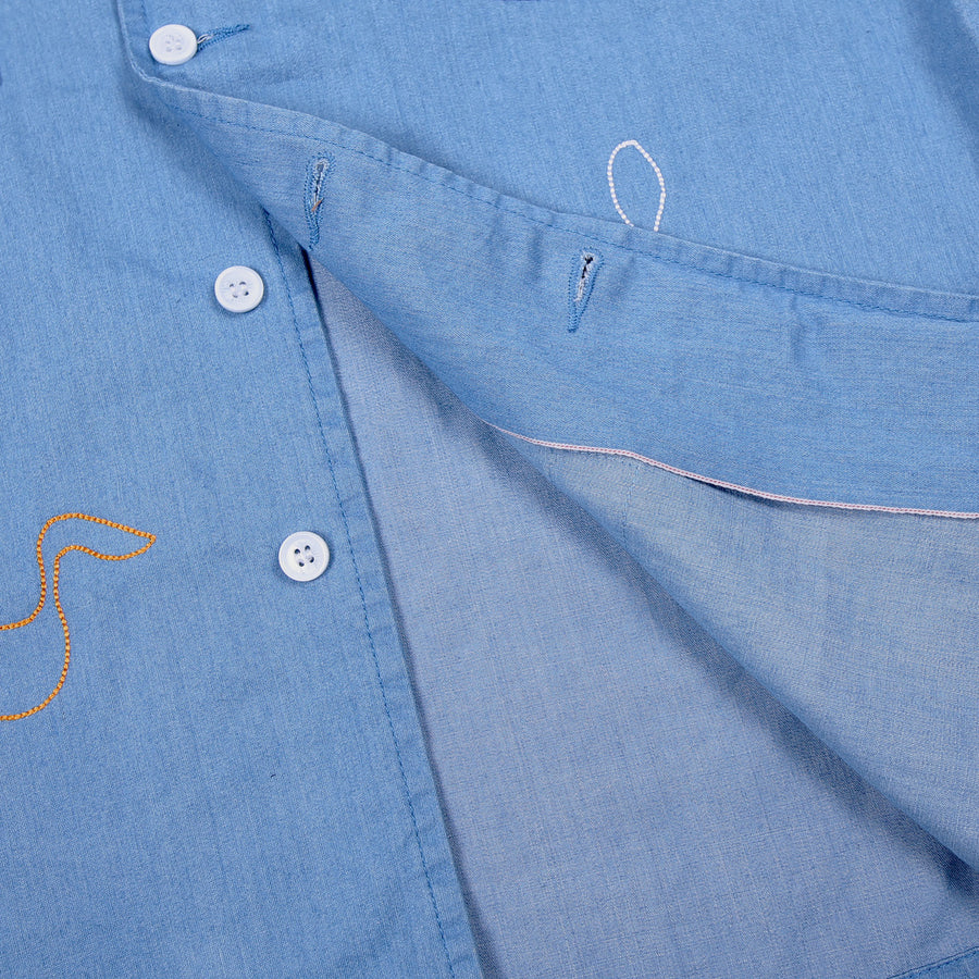 CHAMP CAMP DENIM SHIRT SELVEDGE S/S 20