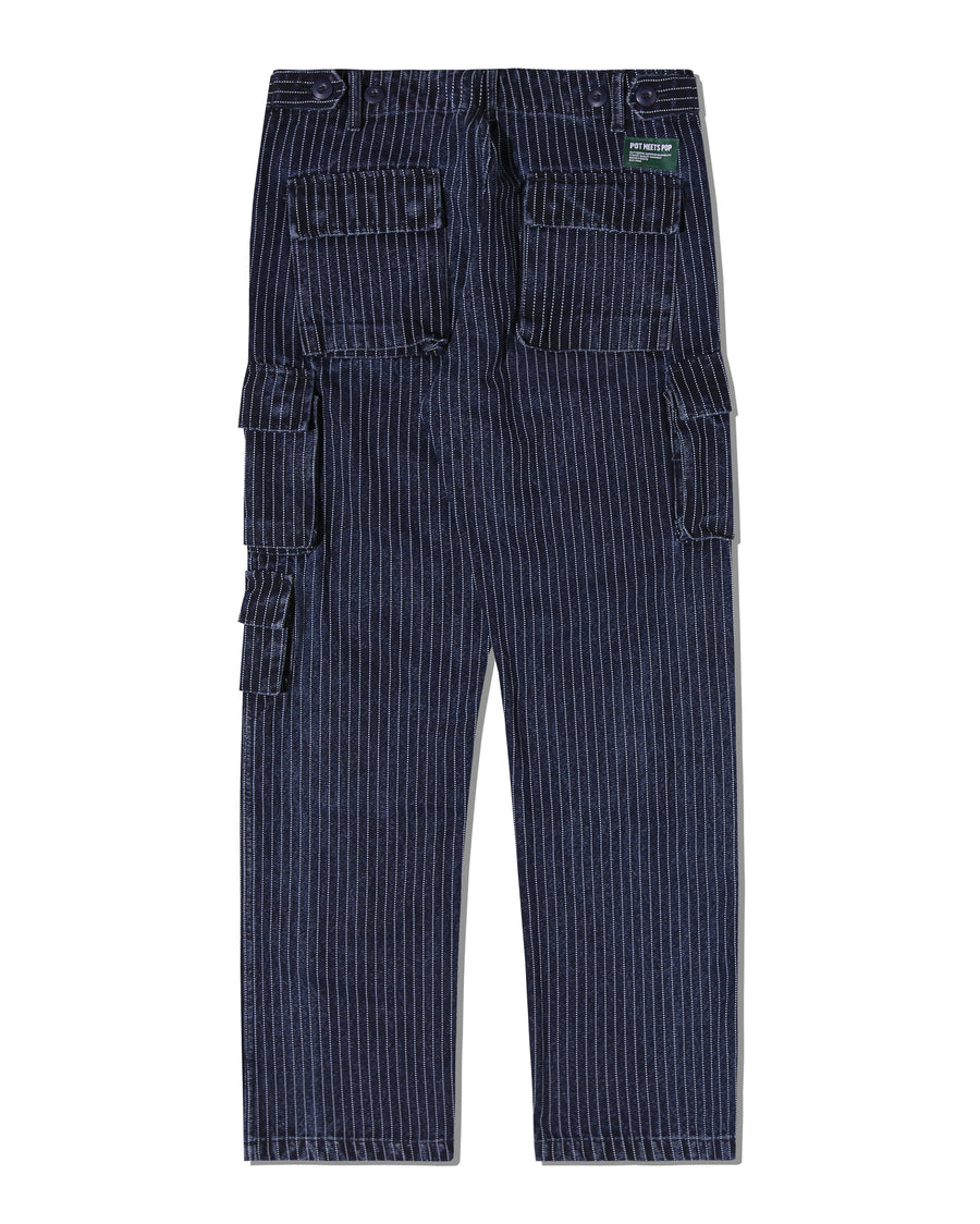 CHRONIC CARGO PANTS STRIPED CANVAS WASHED F/W 20