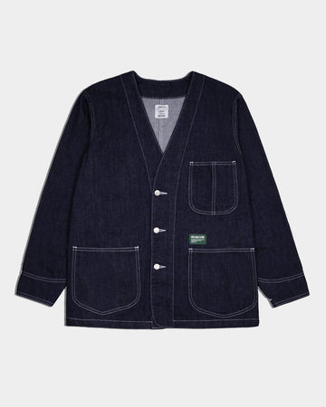 COLLARLESS DENIM JACKET S/S`18