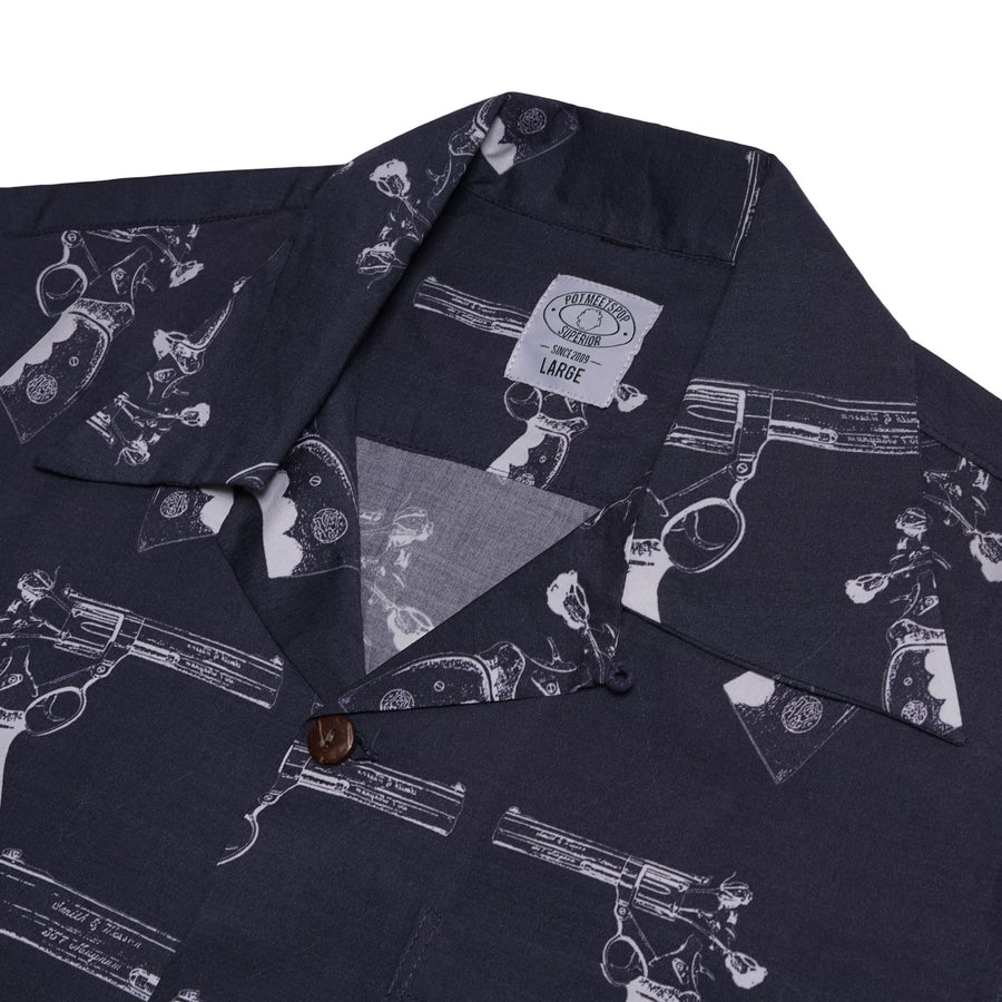 A FLOWER GUN ALOHA SHIRT BLACK S/S 19