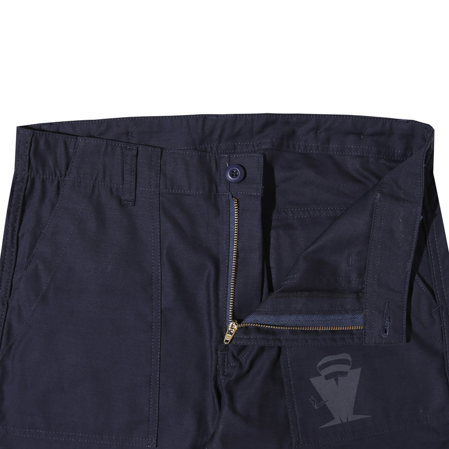 FATTY FATIGUE PANTS REVERSE SATEEN NAVY F/W 20