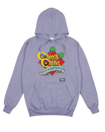 POT MEETS POP / CHEECH AND CHONG - NEXT MOVIE HOODIE HEATHER GREY