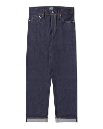 POT MEETS POP / CHEECH AND CHONG - BIG BAMBU DENIM PANTS DARK INDIGO