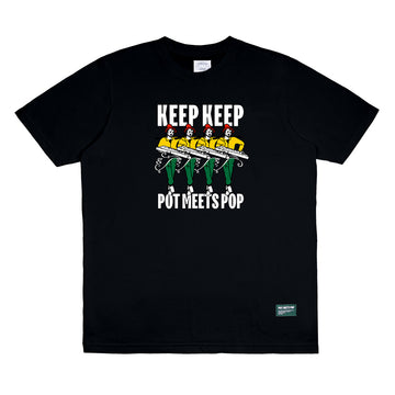 KEEP KEEP X POT MEETS POP TEE BLACK