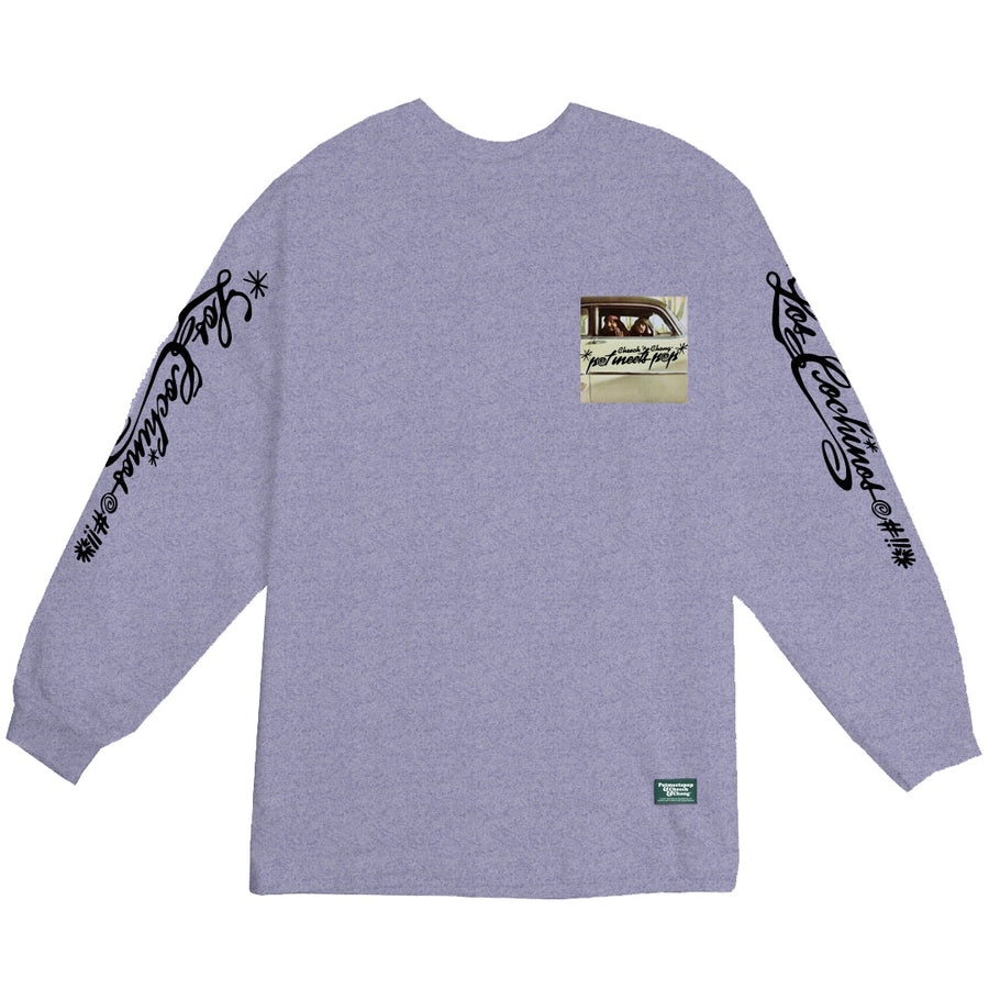 POT MEETS POP / CHEECH AND CHONG - LOS COCHINO LONGSLEEVE TEE HEATHER GREY