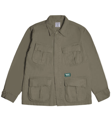 POT MEETS POP / CHEECH AND CHONG - LOW RIDER SLANTED POCKET JACKET OLIVE
