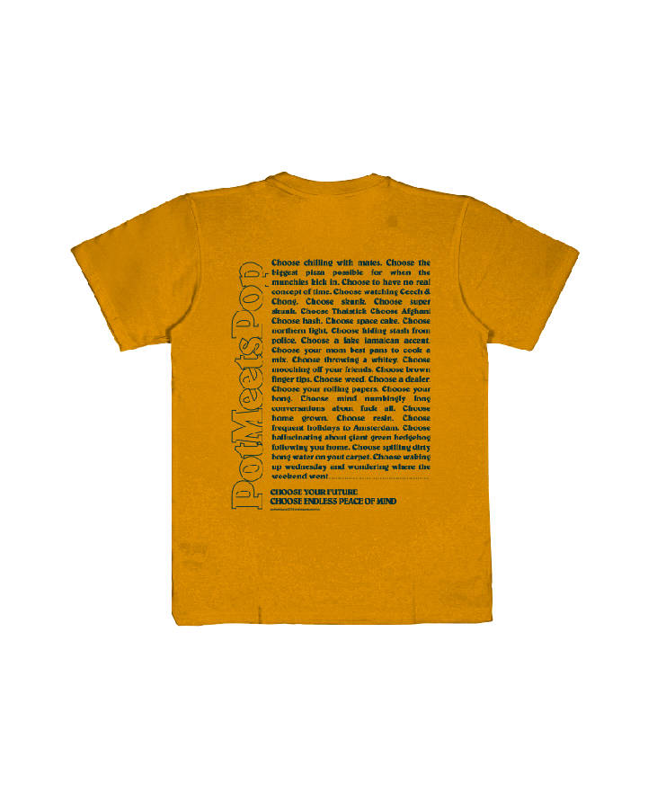 CHOOSE PEACE TEE YELLOW S/S 19