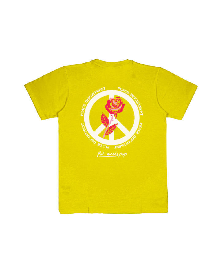 PEACE DEPARTEMENT TEE YELLOW
