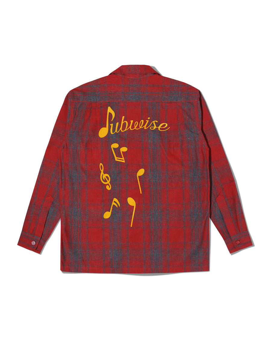 STASH FLANNEL LOOP COLLAR SHIRT RED F/W 20
