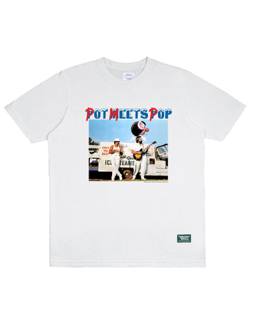 POT MEETS POP / CHEECH AND CHONG - NICE DREAMS PHOTO TEE WHITE