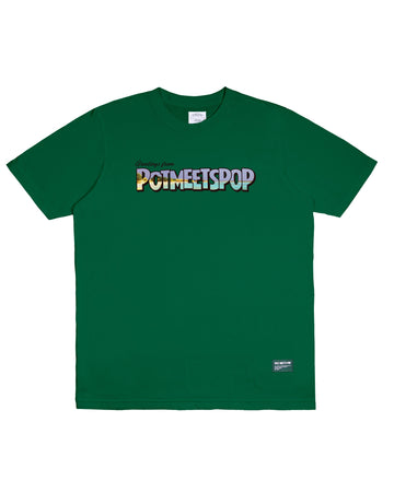 GREETINGS TEE GREEN S/S 20