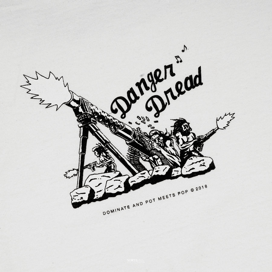 POTMEETSPOP/DOMINATE DANGER DREAD TEE WHITE