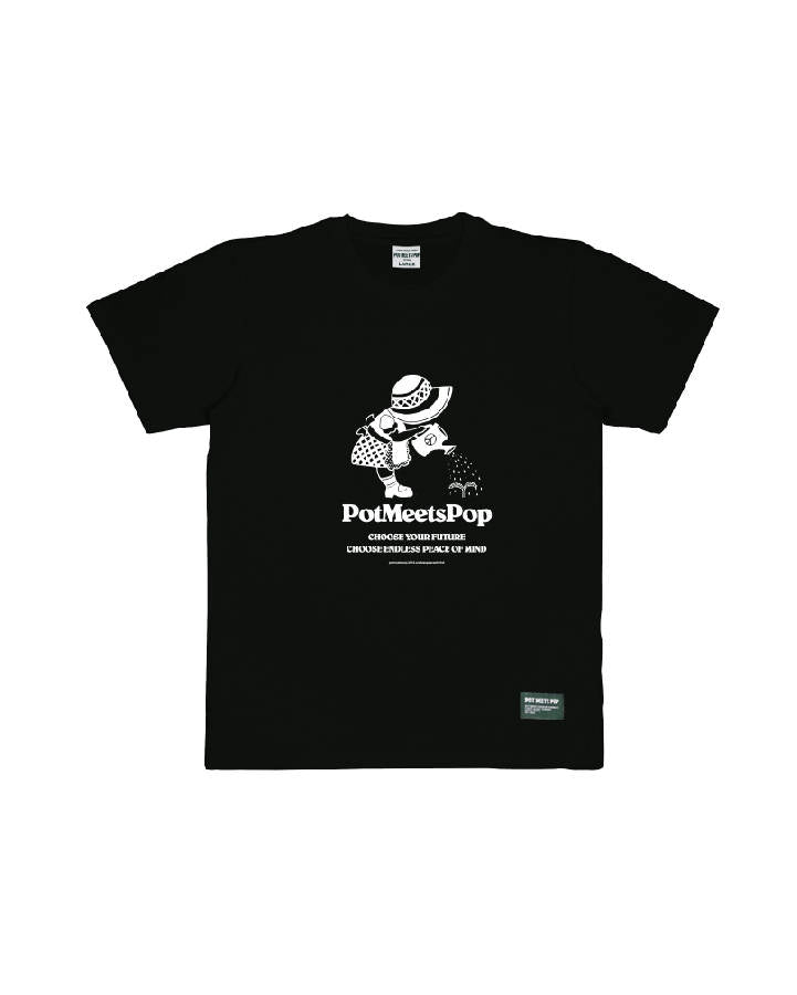 GROWN PEACE TEE BLACK S/S 19