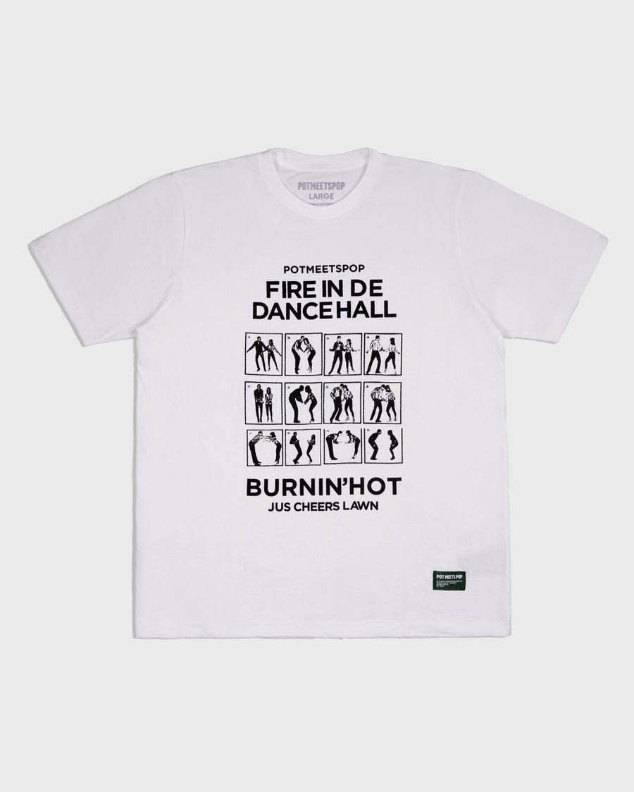 BURNIN HOT TEE WHITE