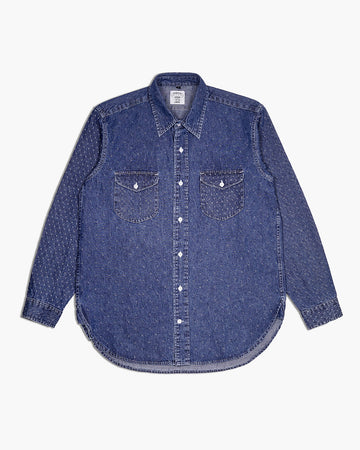 MIX PATTERN DENIM SHIRT