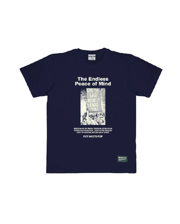 NO BORDERS TEE NAVY