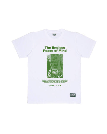 NO BORDERS TEE WHITE