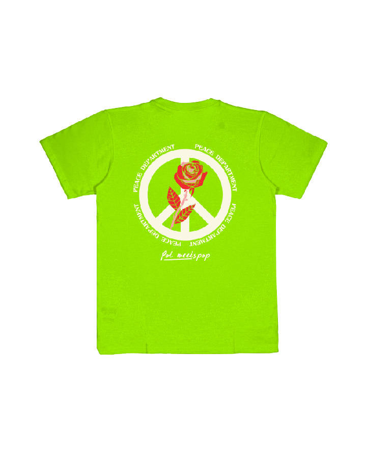 PEACE DEPARTEMENT TEE LIME GREEN S/S 19