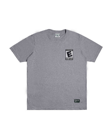 RATED E TEE GREY