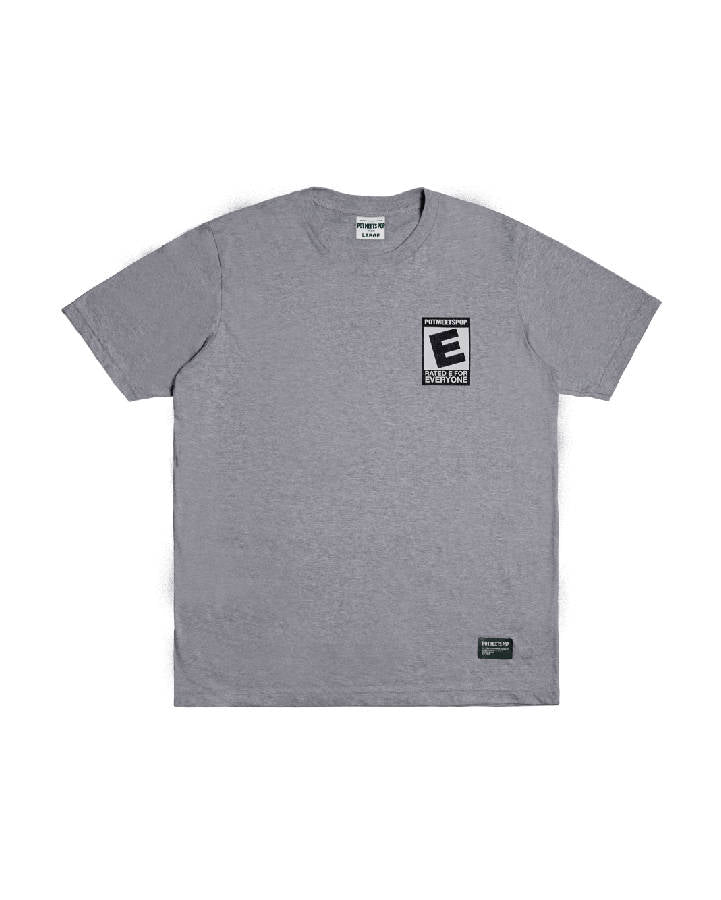 RATED E TEE GREY S/S 19